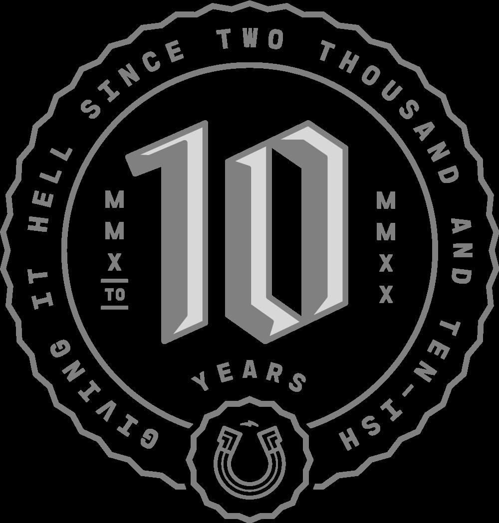 Studio Papa: 10 year anniversary logo
